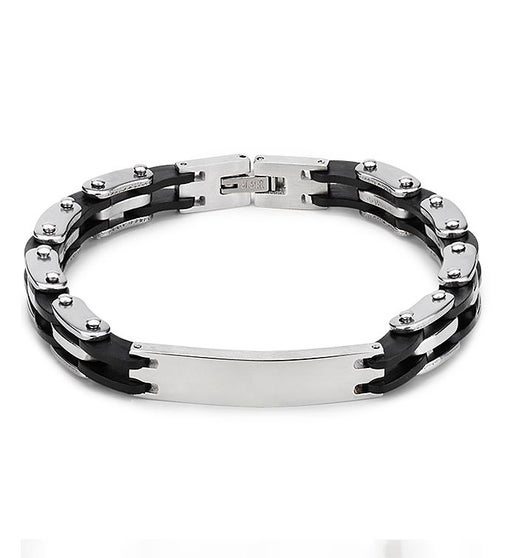 Silver & Black Links Bracelet
