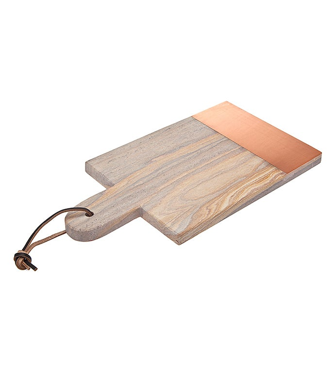 Rainbw Sandstone Copper 14 Rectandgle Tray
