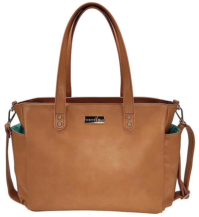 White Elm Aquila Tote Bag  Brown Vegan Leather