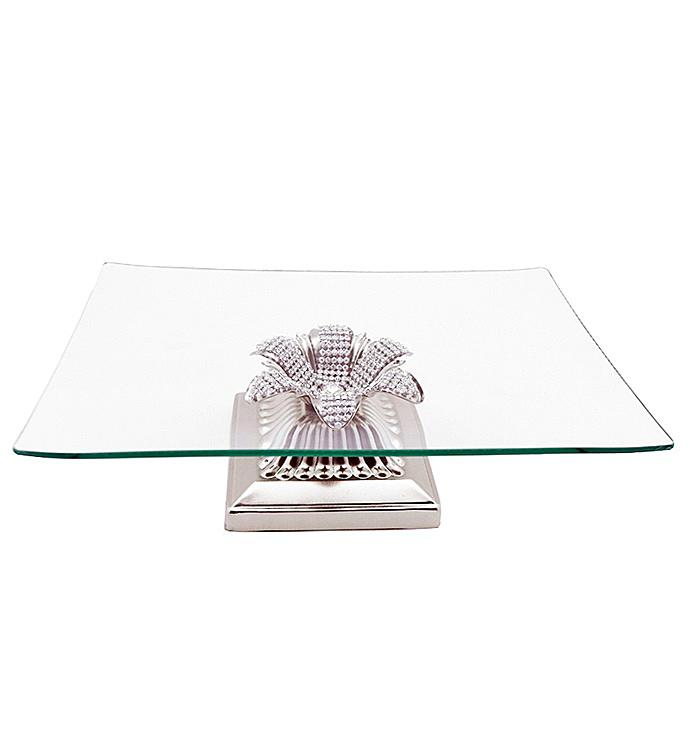 Square Serving Platter with Base