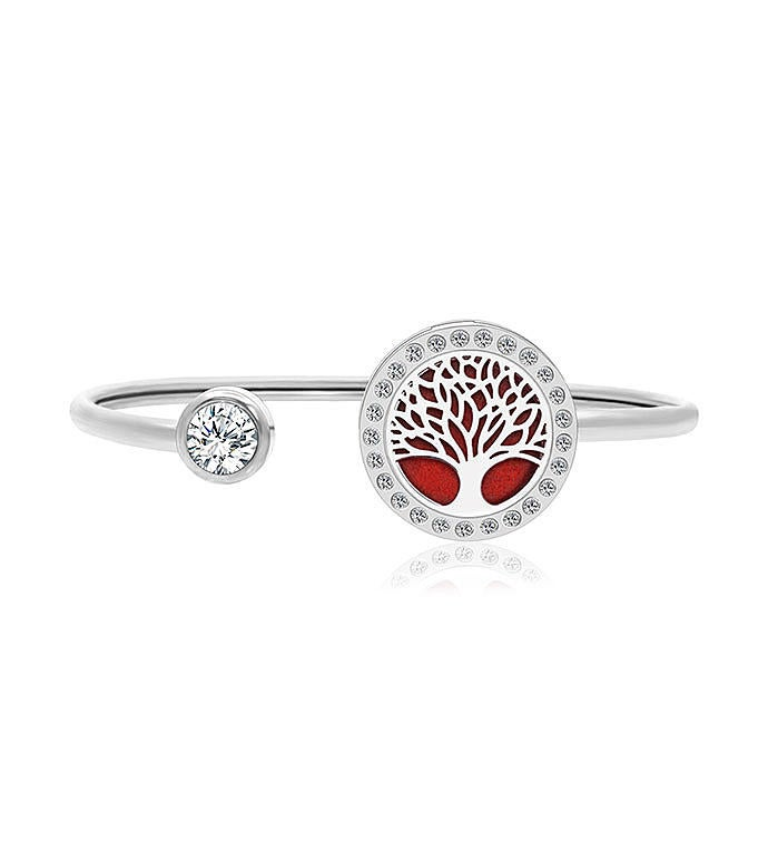 Tree Of Life Essential Oil Twistable Cuff Bangle