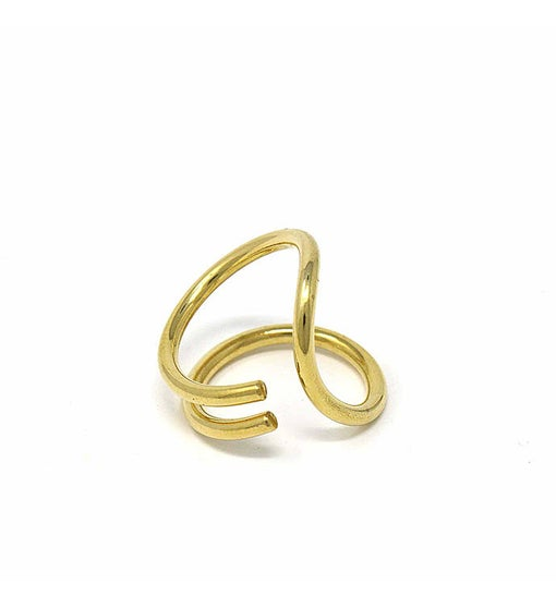 Handmade Brass Infinity Loop Ring