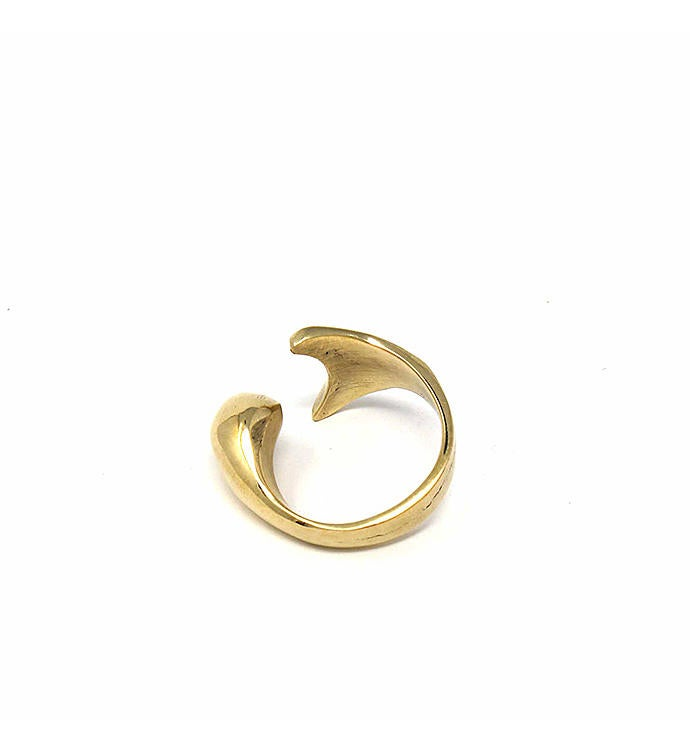 Handcrafted Brass Mermaid Tail Ring