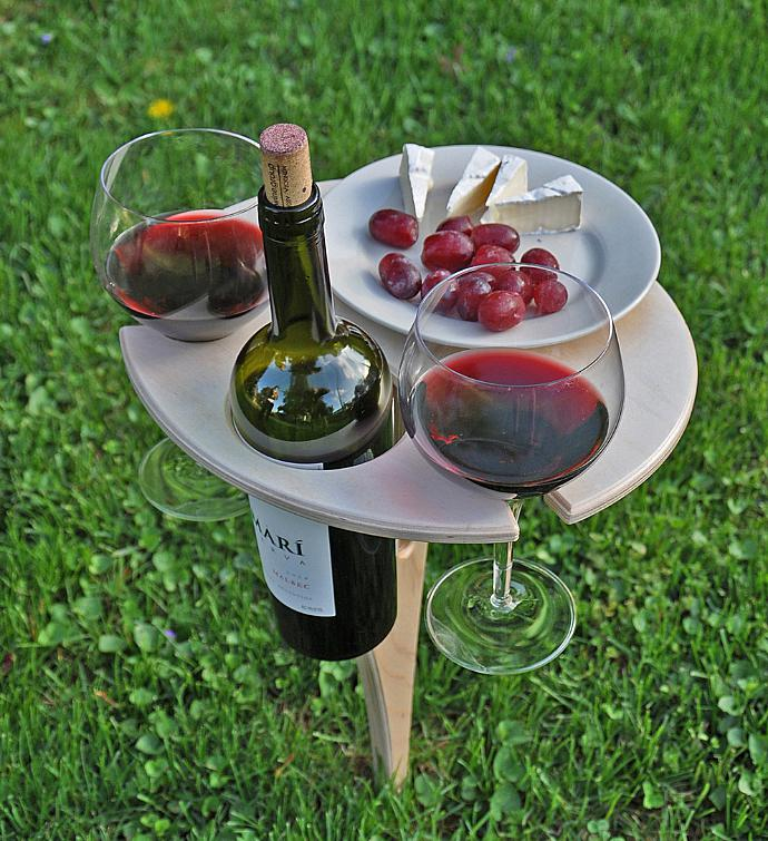 Collapsible Outdoor Wine Table