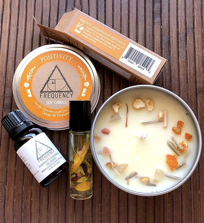 Positivity Aromatherapy Gift Set - Crystal Infused
