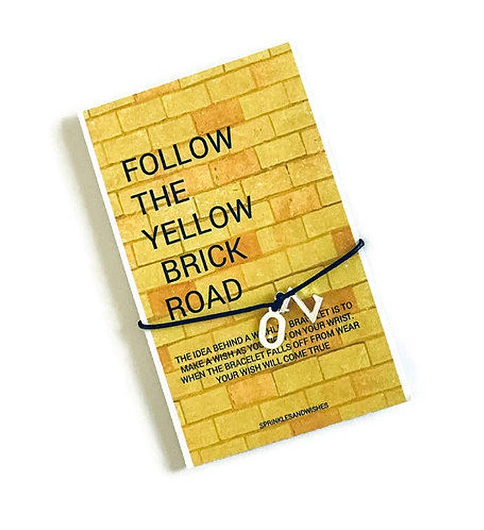 Follow the Yellow Brick Road Wish Bracelet