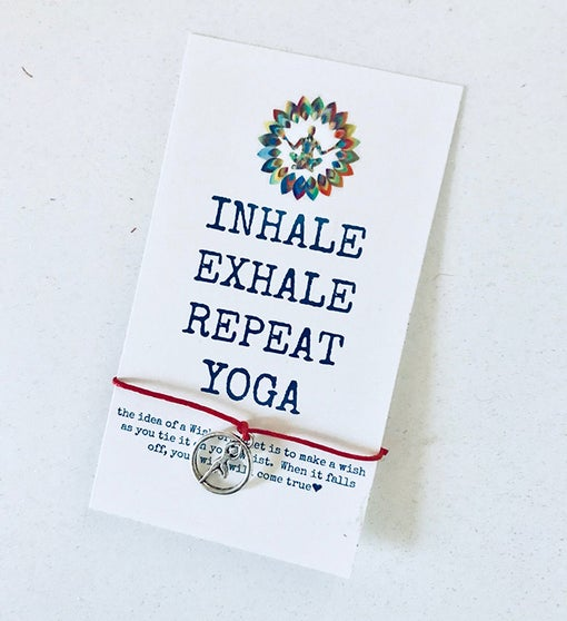 Inhale Yoga Wish Bracelet