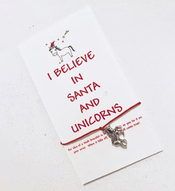 Unicorn Santa Wish Bracelet