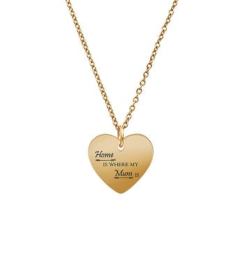 Anavia - Home Is Where My Mum Is Heart Pendant Necklace