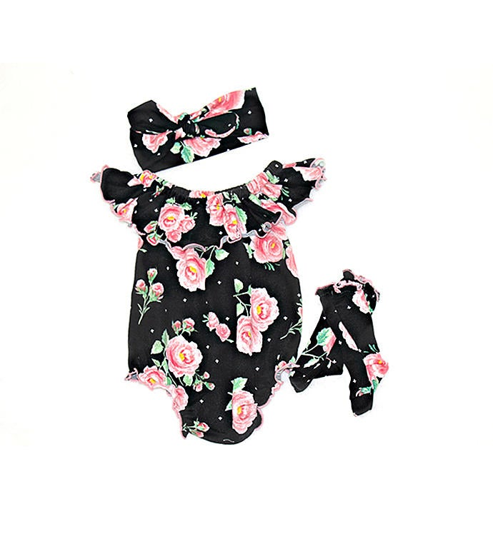 Floral Bubble Romper Gift Set