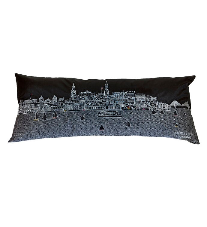 Cityscape Outdoor Pillow - Night