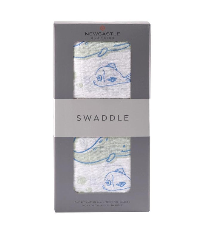 Cotton Muslin Swaddle - Animals