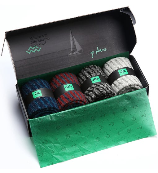 Mio Marino - 4-pack Winter Wool Sock Collection