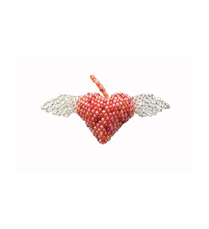 Beaded Heart wWings