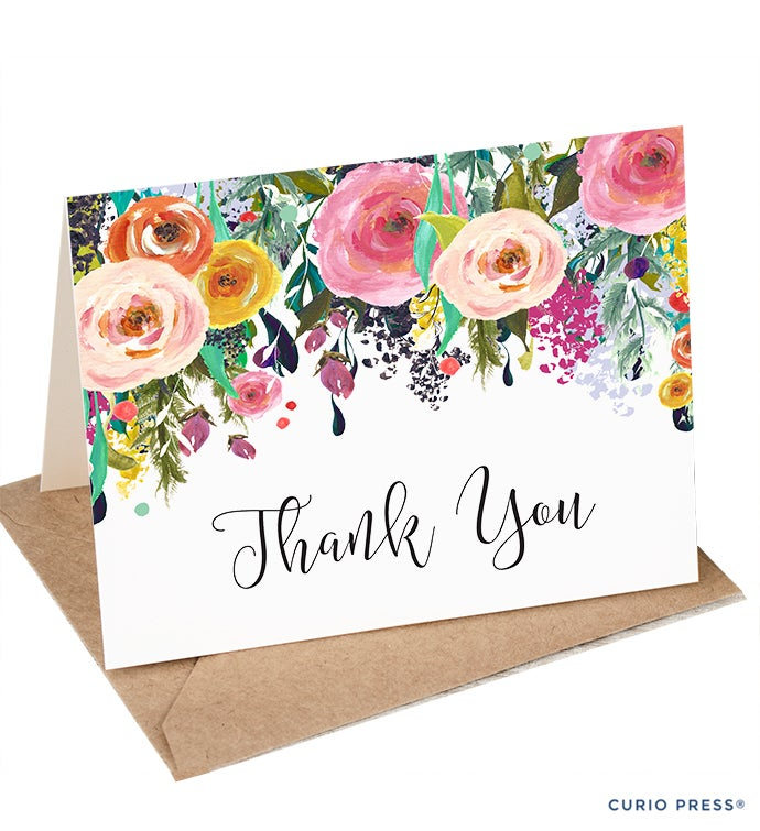Multi Flower Thank You Stationery Set