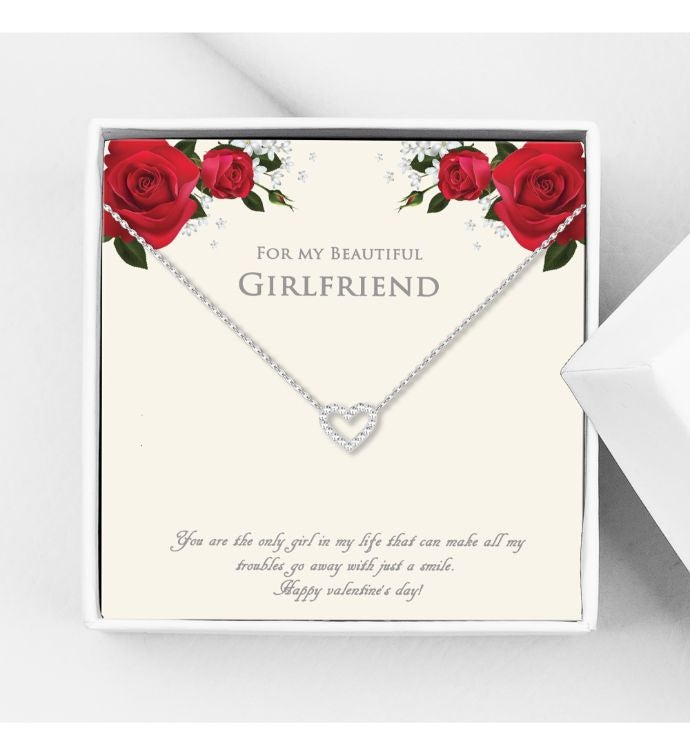 For My Beautiful Girlfriend Mini Heart Valentine39s Day Necklace