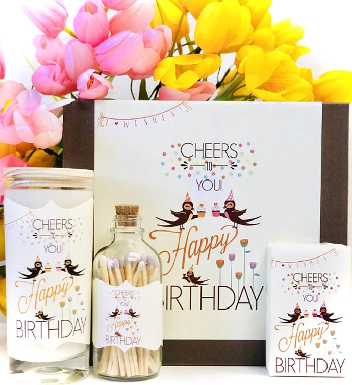 Gift Box Cheers Birthday