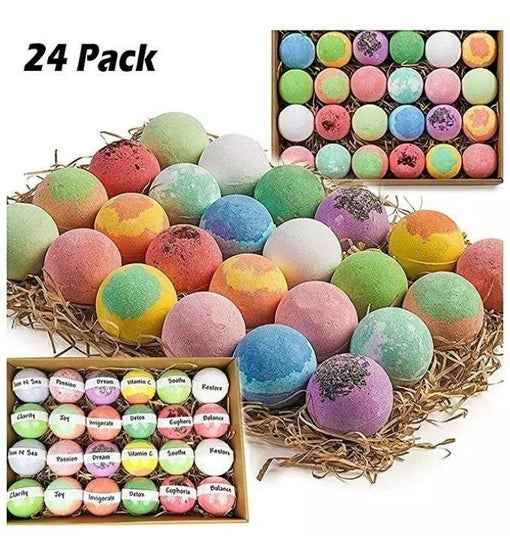 24 Nature Organic Bath Bomb Kit