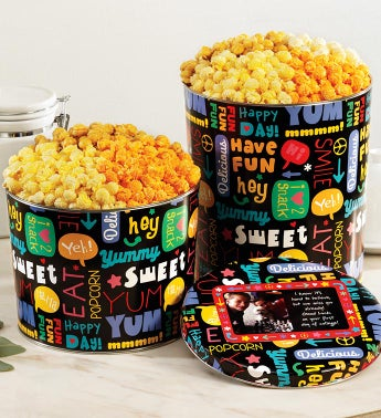 Fun With Snacks Popcorn Tins