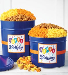 Birthday Wishes Popcorn Tins